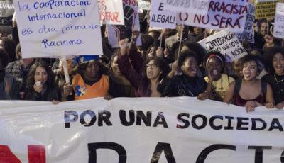 imagen de la marcha contra el racismo
