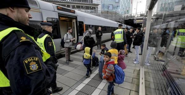 un control en la frontera danesa