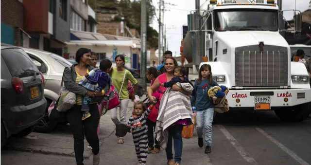 imagen de inmigrantes venezolanos
