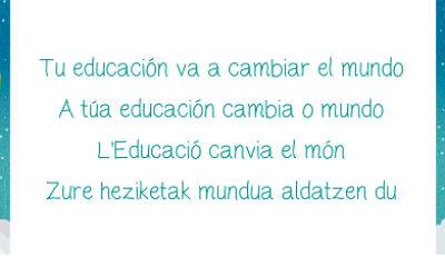 Cartel Tu educación va a cambiar el mundo
