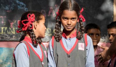 Alumnas de una escuela de Bombay