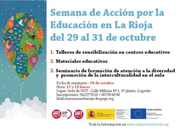 Cartel semana Acción por la Educación