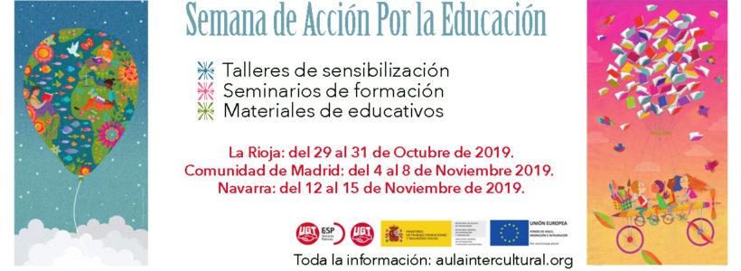 Tarjeta de la campaña semanas de Acción por la Educación