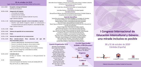 Tríptico congreso intercultural Córdoba