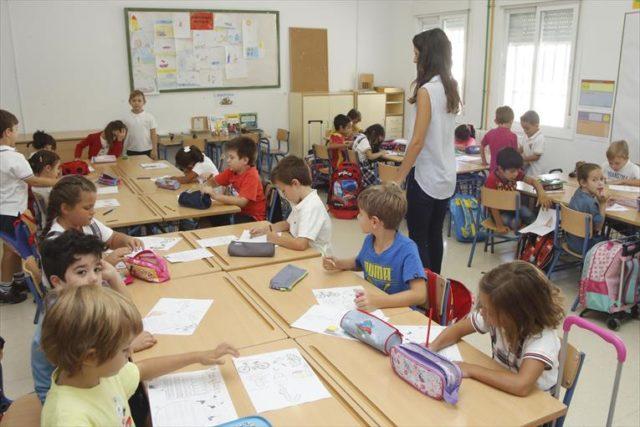 Imagen de un aula de infantil