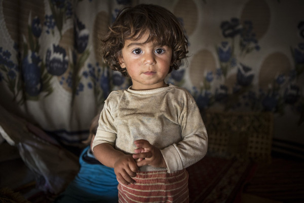 imagen de un nene libanés refugiado