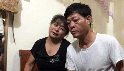 Imagen de los padres de la joven muerta