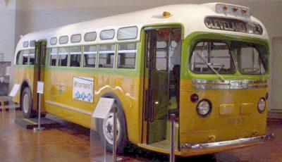Imagen del autobús en el que viajó Rosa Parks