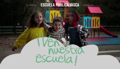 Imagen publicitaria de la escuela pública vasca