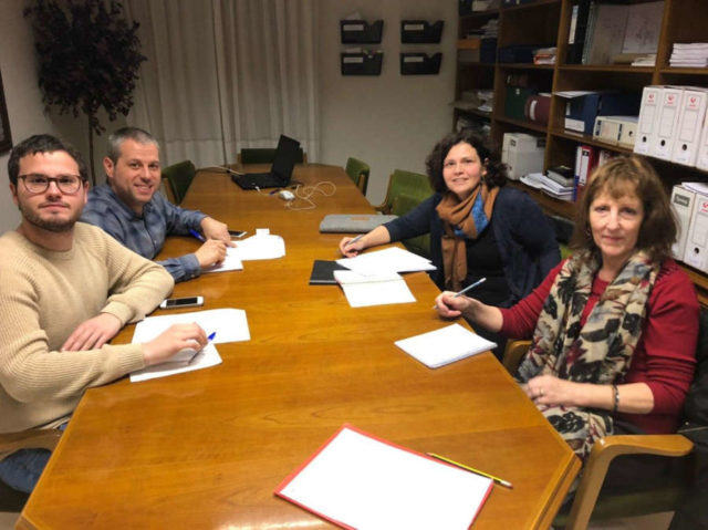 Alcalde y concejal de Castejón e investigadoras del ICS de la Universidad de Navarra