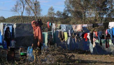 Imagen de varias refugiadas en Lesbos