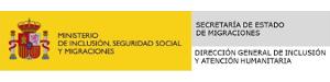 Logo del Ministerio de Inclusión,  Seguridad Social y Migraciones