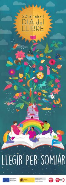 Cartel Campaña Leer para soñar en catalán