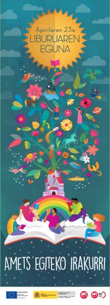 Cartel Campaña Leer para soñar en euskera