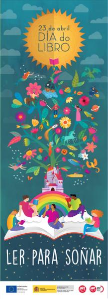 Cartel Campaña Leer para soñar en galego