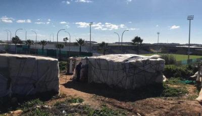 chabolas de jornaleros de la fresa en Andalucía