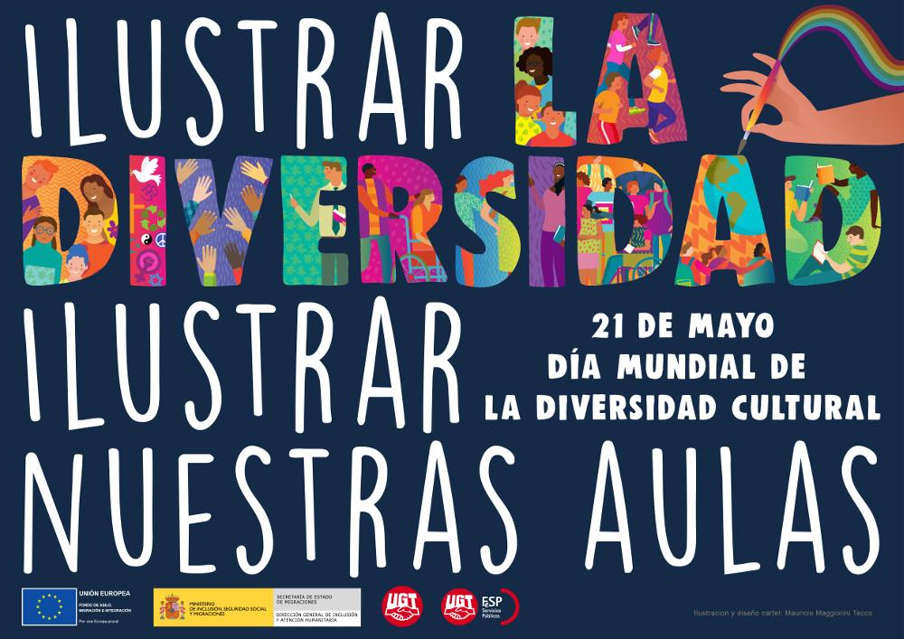 Cartel Día de la Diversidad en castellano