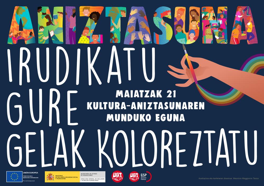 Cartel Campaña Día de la Diversidad en euskera