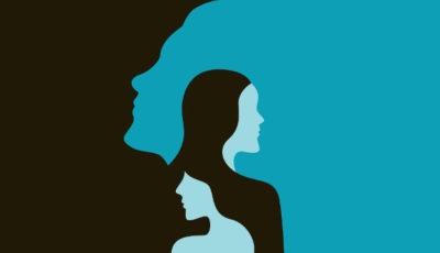 ilustración con el relieve de dos mujeres