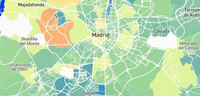 mapa de Madrid