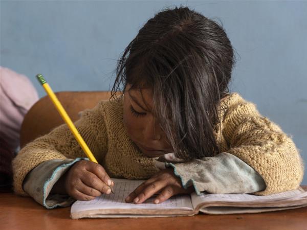 una joven alumna del profesor Zamalloa