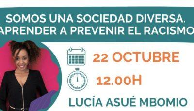 Cartel seminario online Lucia Asué