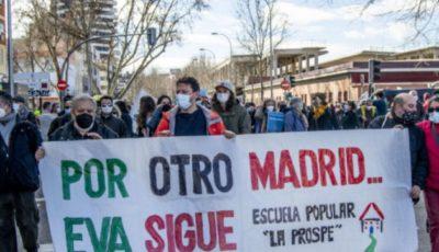 manifestación a favor de la continuidad del EVA