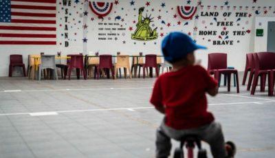 Una sala del centro Dilley, donde está internada la niña