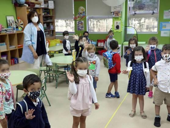 un aula de una escuela de Santiago