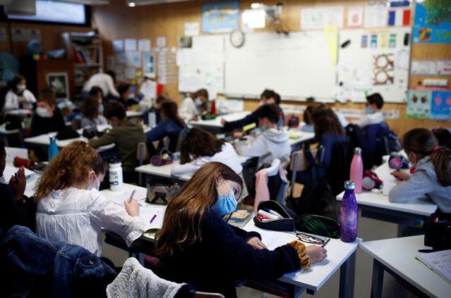 aula de un colegio francés
