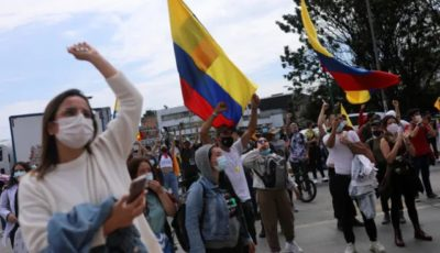 Imagen de una protesta en Colombia