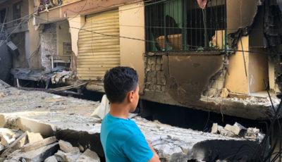 ruinas de un bombardeo en Gaza