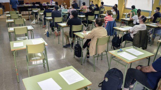 imagen de una de las aulas donde se hizo la prueba
