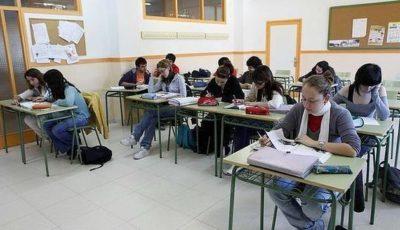 aula de un instituto de Canarias